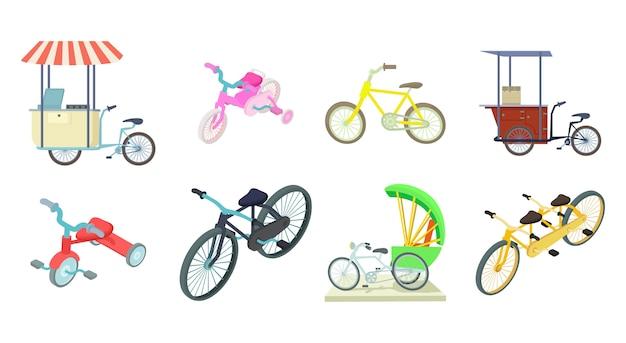 Conjunto de iconos de bicicleta