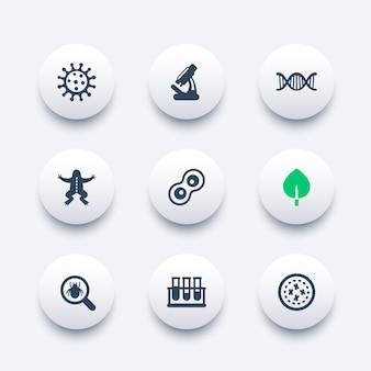 Conjunto de iconos de biología