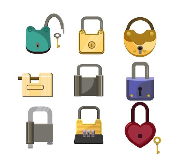 Conjunto de iconos de bloqueo