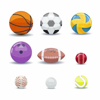Conjunto de iconos de bolas de juegos