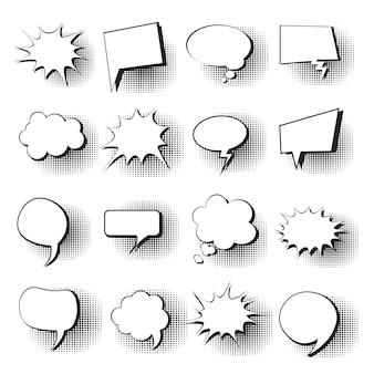 Conjunto de iconos de la burbuja de chat