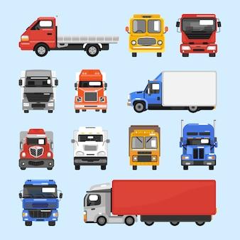 Conjunto de iconos de camión