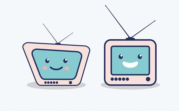 Conjunto de iconos de caracteres de televisión