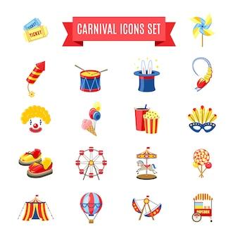 Conjunto de iconos de carnaval