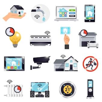 Conjunto de iconos de casa inteligente