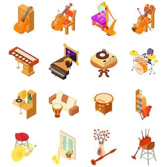 Conjunto de iconos de la casa de música