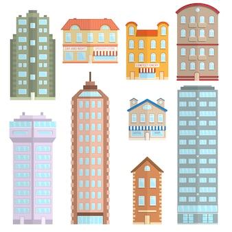 Conjunto de iconos de casa plana