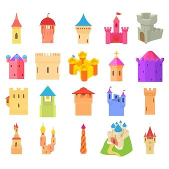 Conjunto de iconos del castillo