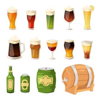 Conjunto de iconos de cerveza
