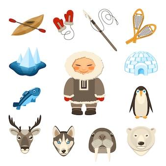 Conjunto de iconos de chukchi