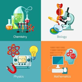 Conjunto de iconos de ciencia