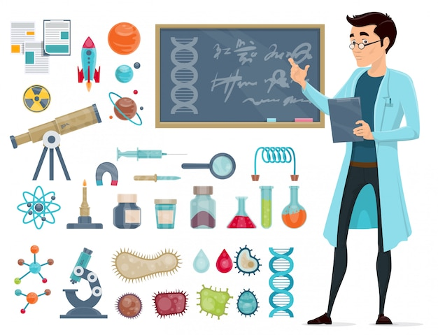 Conjunto de iconos científicos