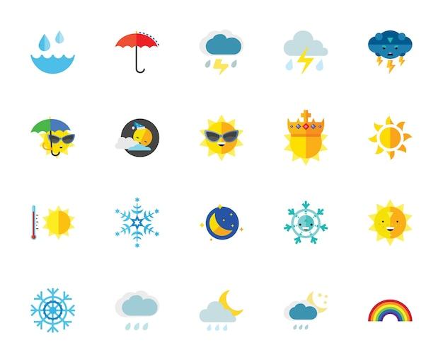 Conjunto de iconos del clima