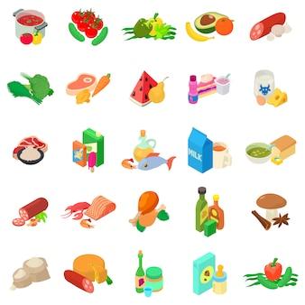 Conjunto de iconos de cocina mundial