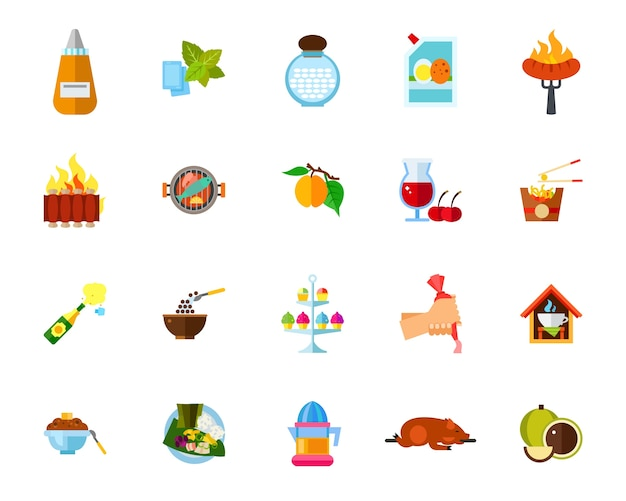 Conjunto de iconos de cocina