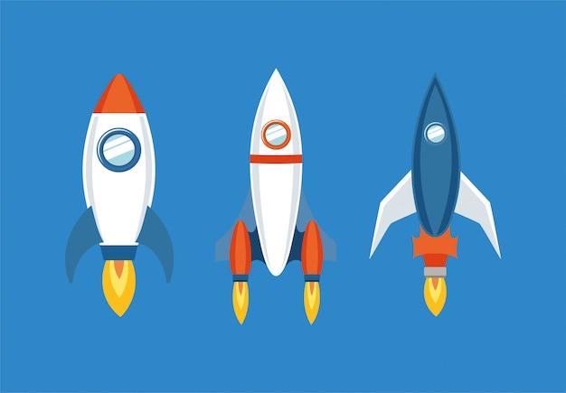 Conjunto de iconos de cohete