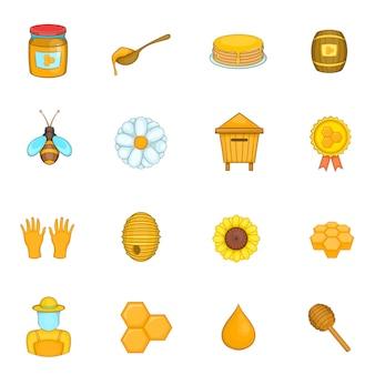 Conjunto de iconos de colmenar