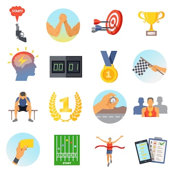 Conjunto de iconos de competencia