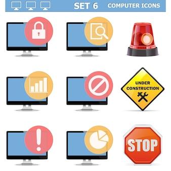 Conjunto de iconos de computadora 6