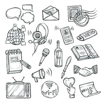 Conjunto de iconos de comunicación
