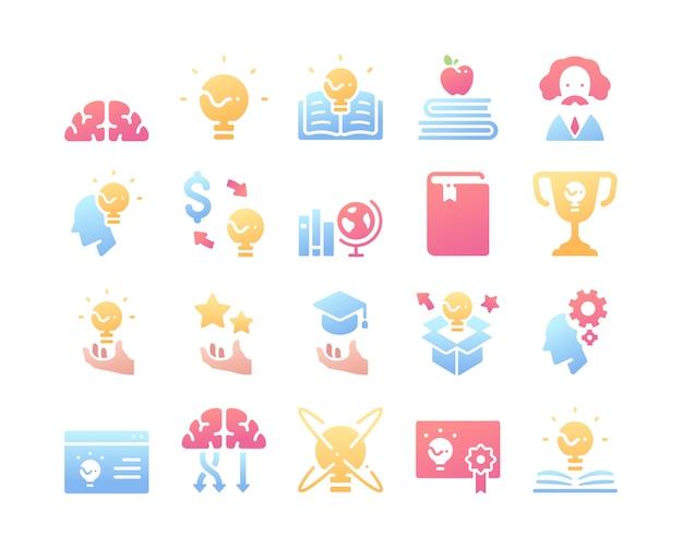 Conjunto de iconos de conocimiento