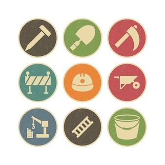 Conjunto de iconos de construcción para uso personal y comercial