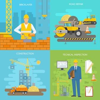 Conjunto de iconos de construcción