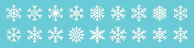 Conjunto de iconos de copo de nieve