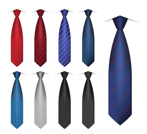 Conjunto de iconos de corbata camisa