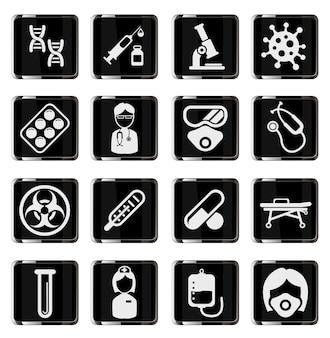 Conjunto de iconos de coronavirus para infografía o sitio web novel coronavirus 2019ncov