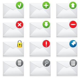 Conjunto de iconos de correo electrónico
