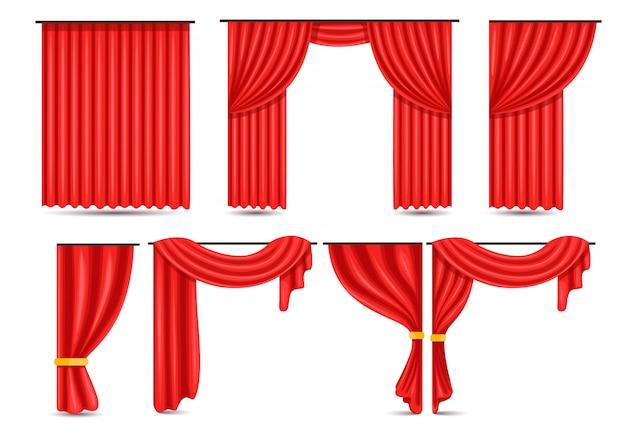 Conjunto de iconos de cortina de teatro gratis