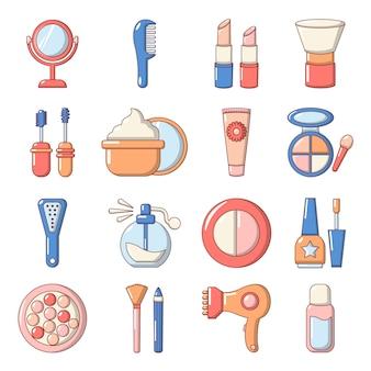 Conjunto de iconos de cosméticos