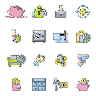 Conjunto de iconos de crédito