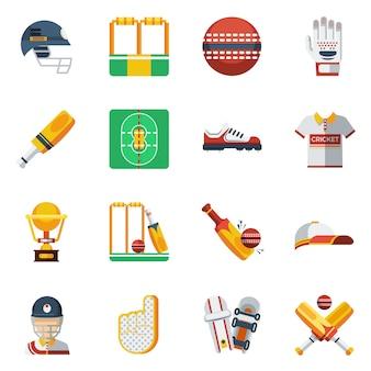 Conjunto de iconos de cricket