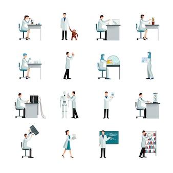 Conjunto de iconos decorativos científico