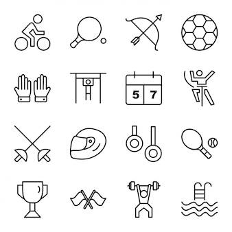 Conjunto de iconos de deportes y juegos