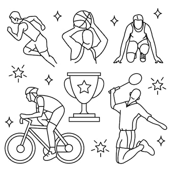 Conjunto de iconos de deportes