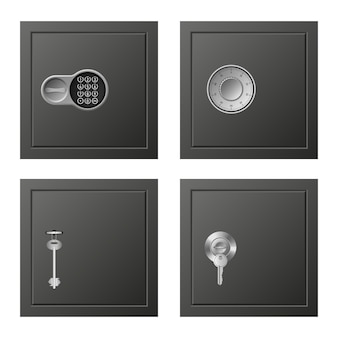 Conjunto de iconos de depósito, estilo realista
