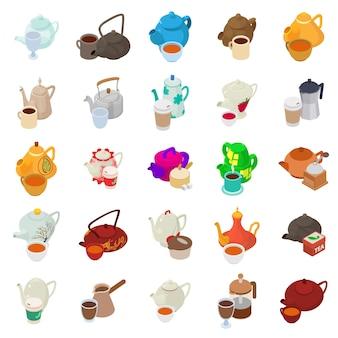 Conjunto de iconos de día de té