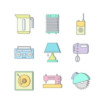 Conjunto de iconos de dispositivos electrónicos
