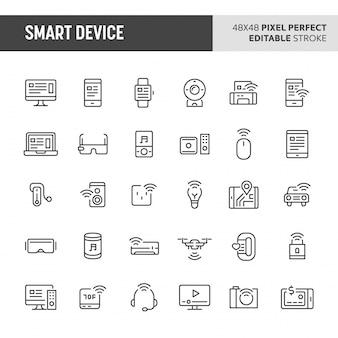 Conjunto de iconos de dispositivos inteligentes