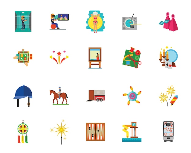 Conjunto de iconos divertidos