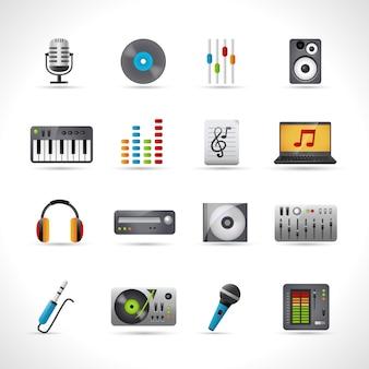 Conjunto de iconos de dj