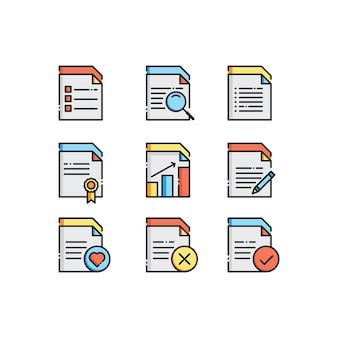 Conjunto de iconos de documento