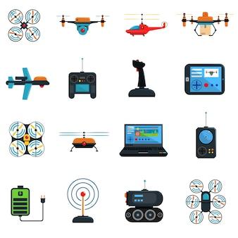 Conjunto de iconos de drones