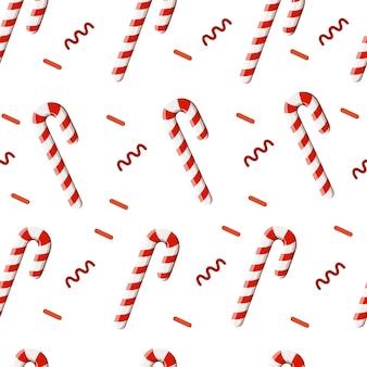 Conjunto de iconos de dulces coloridos - bastón de caramelo malvavisco espiral lollipop limón ilustración. vector con diferentes caramelos rojos y blancos.