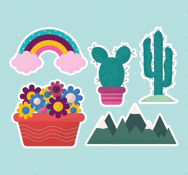 Conjunto de iconos dulces