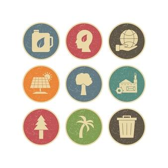 Conjunto de iconos de eco para uso personal y comercial