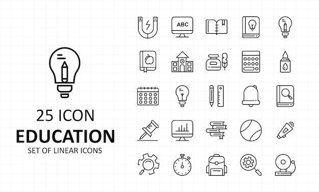 Conjunto de iconos de educación